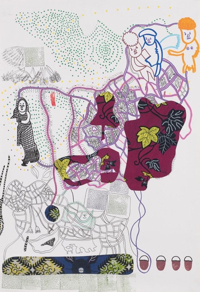Trois figures sur pointillé - Claude Tironneau Artiste peintre